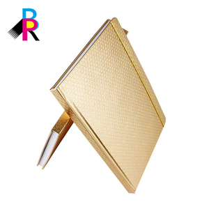 Corrector stationery gold cover gift set pen notebook keychain conference notepad