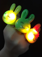 easter bunny shaped LED light up jelly ring