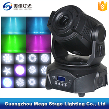 Mega gobo projector light 75 watt led moving head spot