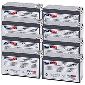 ML8-12 - 12V 8AH Replacement for APC Back-UPS ES 750 UPS Battery - 8 Pack