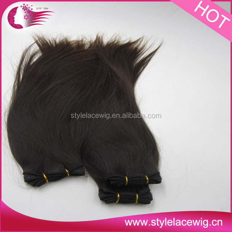 NEW Peoduct 100% human hair extensions silky straight clip in hair extensions brazilian human hair weft