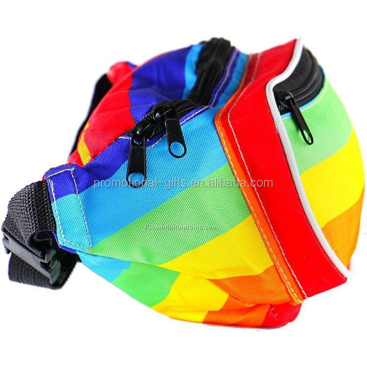 Promotional Rainbow Outdoor OEM Waist Bag