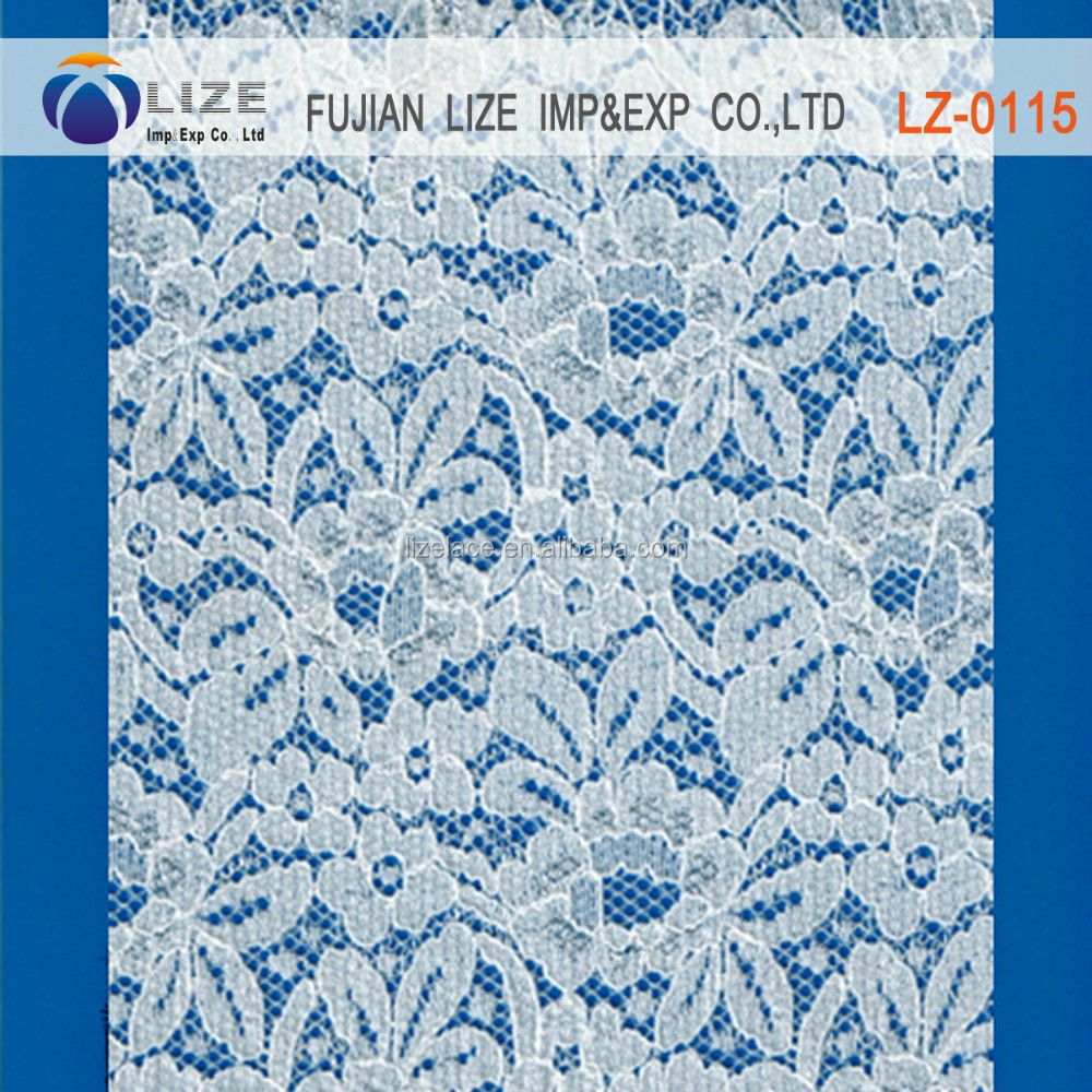 cheap lace closure nylon spandex fabric stretch lace bridal lace lz-0115 wide stretch lac