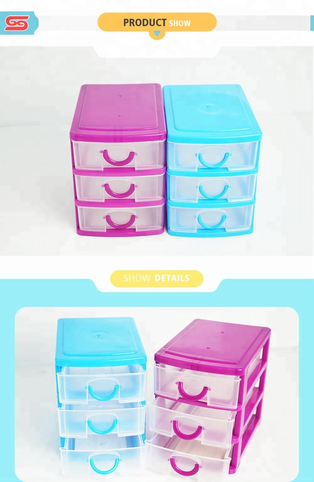 Boîte de rangement de tiroir en plastique personnalisable empilable Multi pour bon marché
