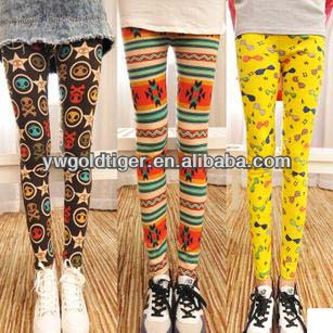 Hot Korean Autumn Winter Fitness Girls Custom Comic Digital Printing Galaxy Pants Cotton Knit Thick Printed Leggings