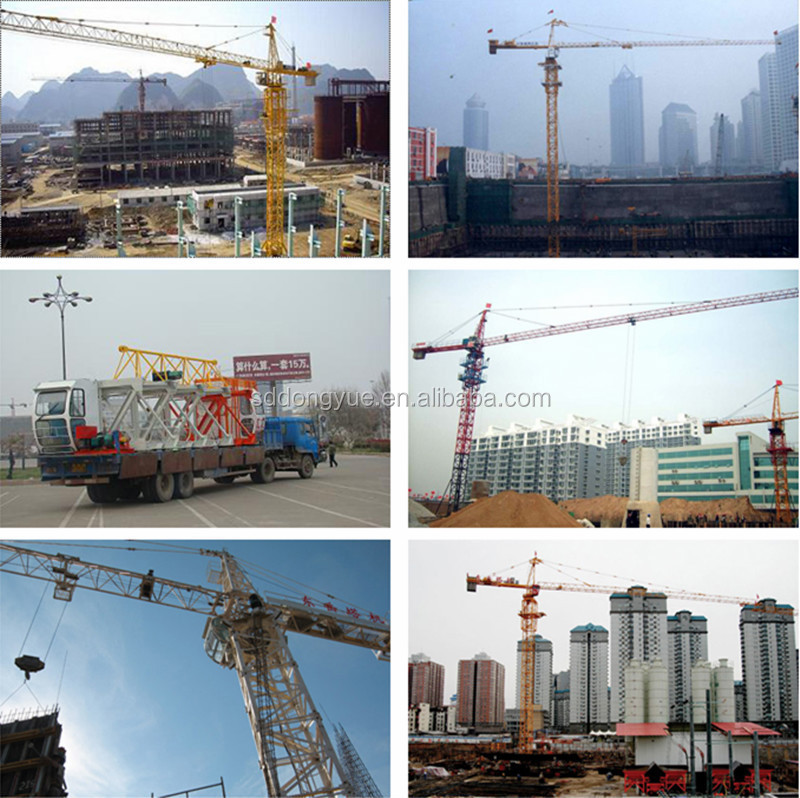 Luffing jib used tower cranes for sale in dubai mini tower crane price QTZ5613