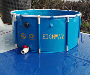 Big PVC collapsible round or square fish breeding pools for fish farm