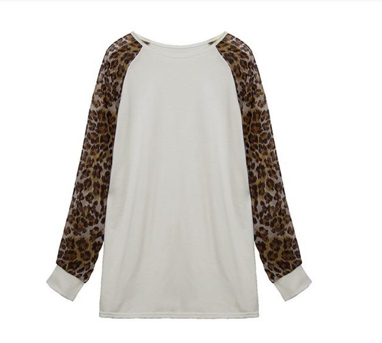 88b043570faea0 Get Quotations · 3 Color M-3XL Women Leopard Printed T shirt 2015 Spring  Fashion Tee Long Sleeve