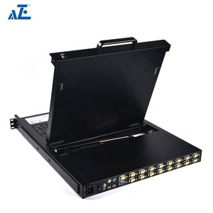 Hot Selling 19-In. 8 Port 1u KVM Console Console 8-Port Usb/Ps2 Rack Mount KVM Switch