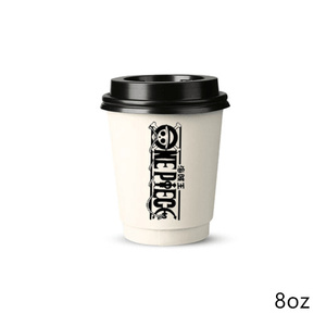 Custom design logo 10oz double wall paper cup for wholesale