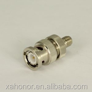 RF coaxial cable connector BNC male to SMA female adapter