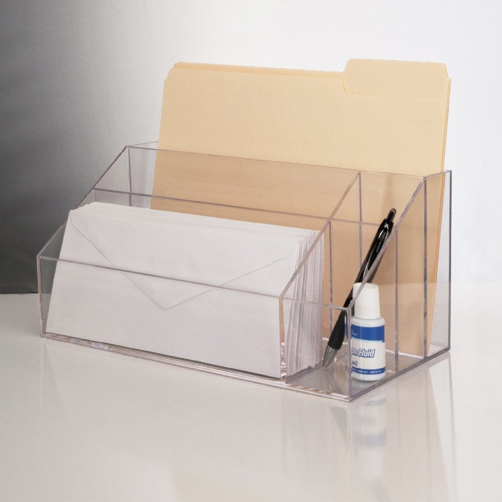 Clear Acrylic Storage Accessories For Office,Perspex Stationery Holders,Lucite Desk Organizers ...