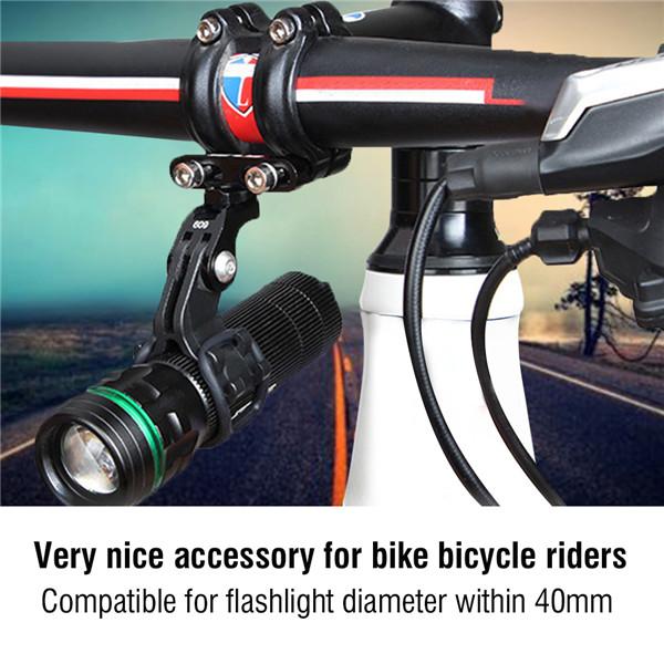 1 Pc Bicycle Handlebar Light Torch Holder Bicycle Mount Bracket Clamp Flashlight