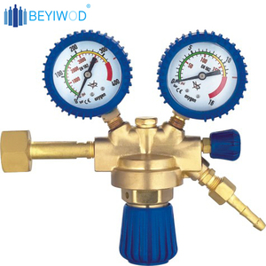 Brass single stage high purity nitrogen gas pressure regulator