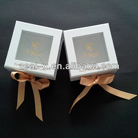 White Packing Gift Box With Ribbon, See Through Gift Box Packing Soap