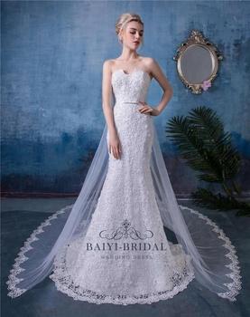 Sweetheart Custom Wedding Dress Open Back Lace Mermaid Gown Fishtail Bridal Dresses Vestido De Novia