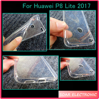 [Soar]High Clear Soft TPU Back Cover Case For Huawei P8 Lite 2017, For Huawei P8 Lite 2017 Cover