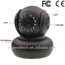 indoor wireless HD 720P pan tilt two way communication P2P ip mini camera with SD card