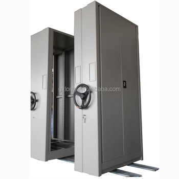 Mobile File Compactor Storage File Cabinet Shelving System/Mobile  Shelves/Metal Locking Shelving