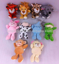 Hot selling mini animal plush toys keychain