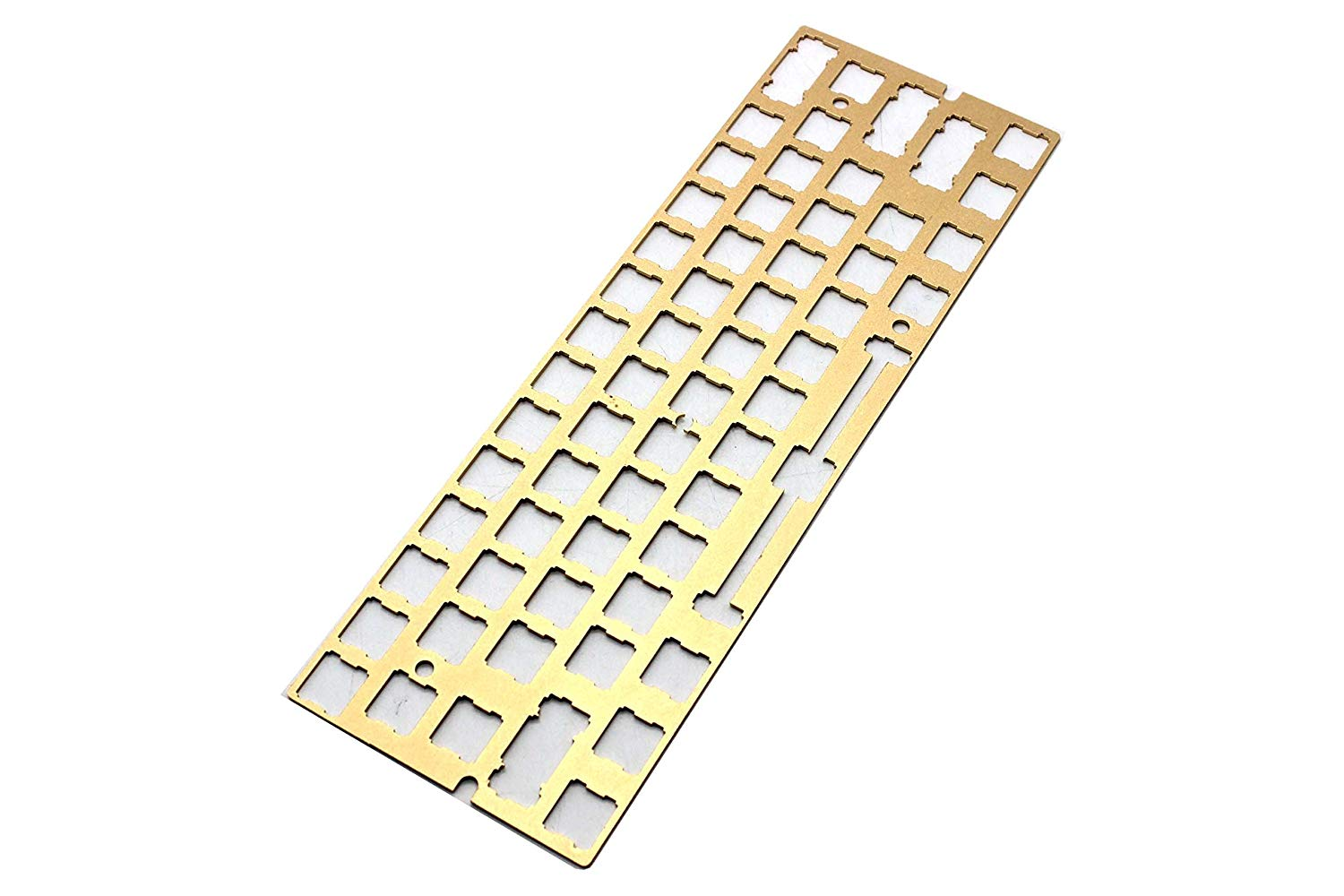 ANSI Costar Stabilizers Anodized Aluminum Positioning Board Plate Support For GH60 60% Keyboard DIY (Gold)