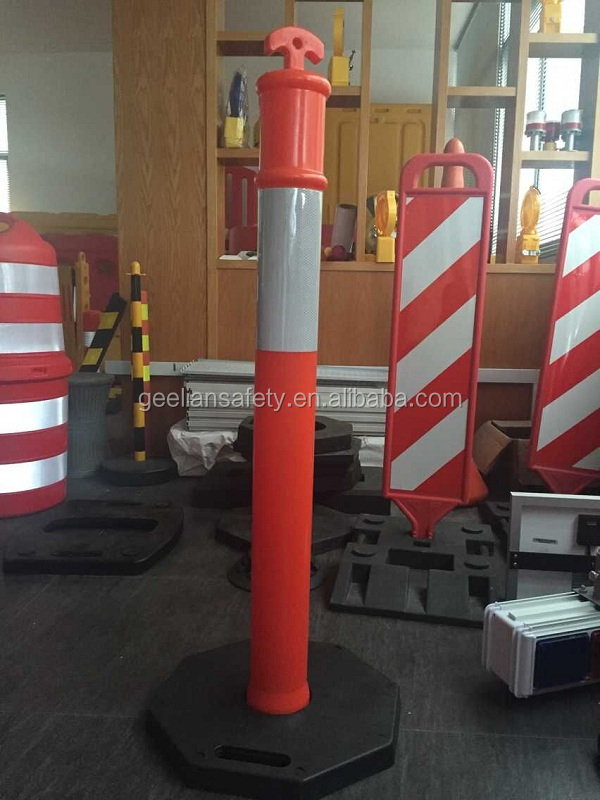 Highway flexible road post warning sign post reflective delineator post