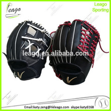 high quality japanese kip leather infielding red & black baseball glove