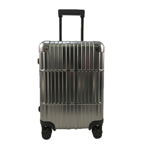 Aluminum Checked Combination Lock Polo Trolley Luggage