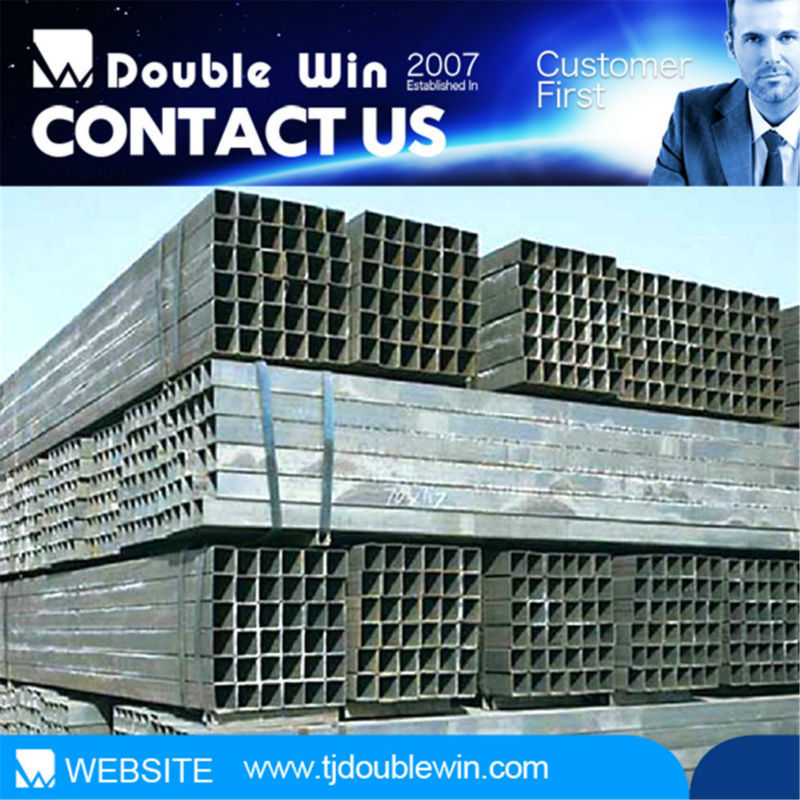 10*10 to 100*100 Iron Furniture Square Rectangular Hollow Steel Metal Tube/Pipe Profiles Factory Directly