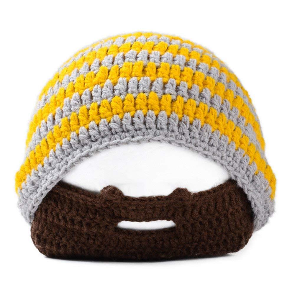 d57ee1d1d0b Get Quotations · Neevas Beard Beanie Mustache Mask Face Warmer Ski Winter  Hat Cap Handmade Knit Warm