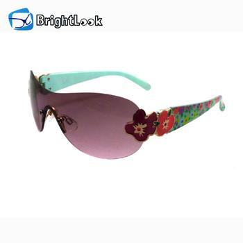 9e3b471b96 Latest fashion wholesale custom logo printing plastic cute girls rimless  polarized sunglasses