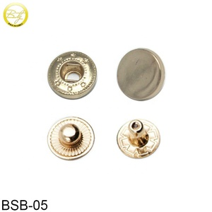 Factory Price Handbag Logos Metal Hardware Gold Snap Buttons