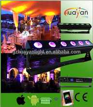 wedding battery uplighting 6*12W RGBWA-UV 6in1 leds by smart phone control with remote controller