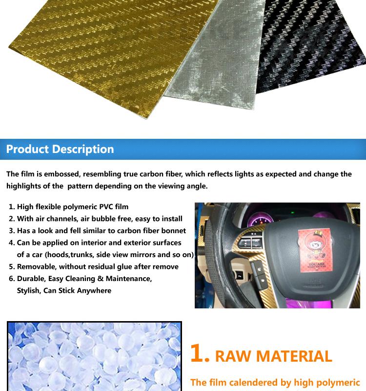 Carlike 1 52x30m Self Adhesive Chrome 3d Carbon Fiber Vinyl Car Wrap Film -  Buy Car Wrap Film,Carbon Fiber Vinyl,Car Vinyl Product on Alibaba com