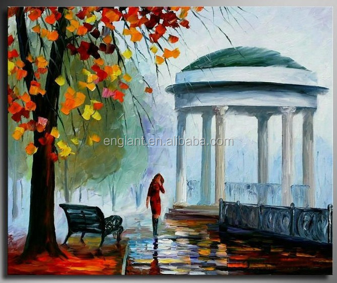 Autumn season natural scenery pictures paintings oil