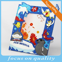 3d customized rubber education baby picture frame sea animal photo frame