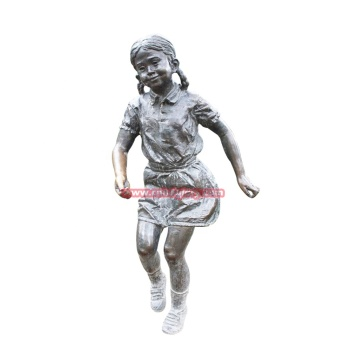 High Quality Metal Crafts Ornament Products Bronze Girl Statue