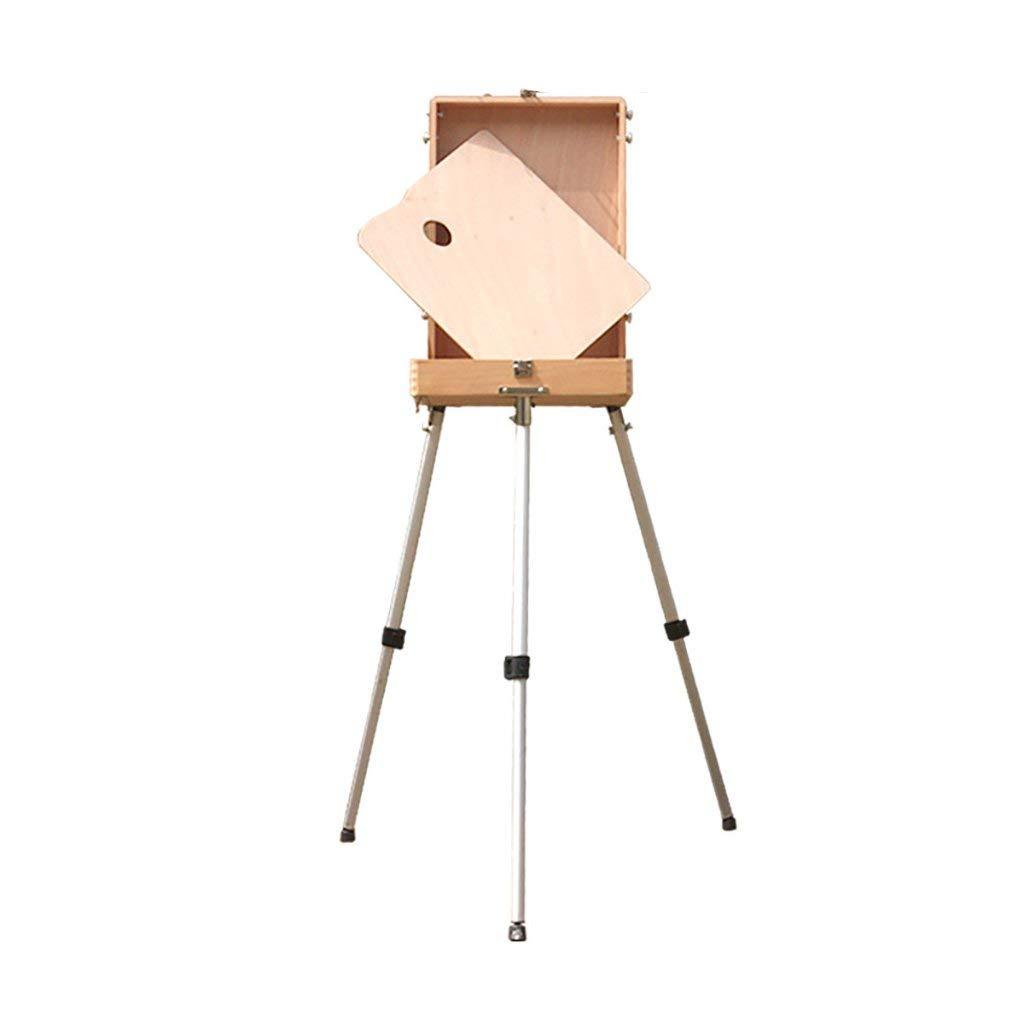 Easel Aluminum Leg Painting Box Adjustable Height and Light Portable Oil Painting Box Portable Sketch Box Oil Painting Box Frame Art Integrated Easel,S
