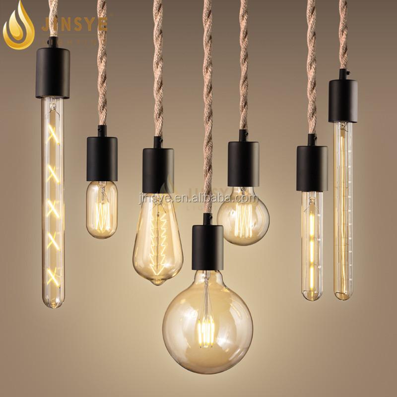 Lights Jute Rope Pendant Lamp