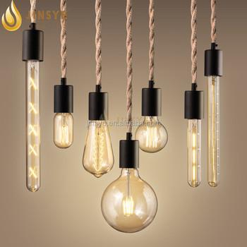 Voorkeur Loft Stijl Retro Industriële Lichten Jute Touw Hanglamp - Buy Jute #UM38