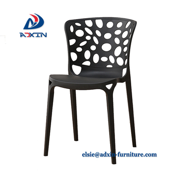 wholesale plastic pp modern white chairs restaurant dining room chairs