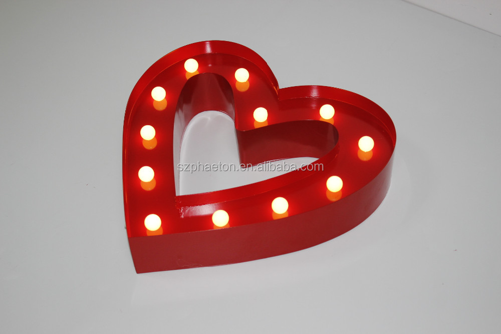 Led bulb marquee letters battery operated