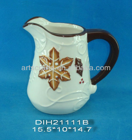 Christmas ceramic milk jug