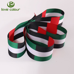 Popular custom polyester country flag ribbon on sale