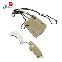Tactical Rescue G10 handle mini Outdoor karambit knife folding with Kedex sheath