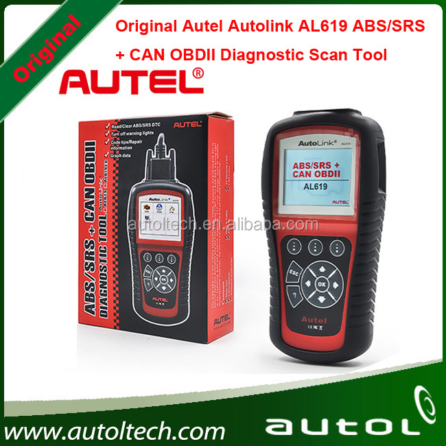 OBDII CAN ABS SRS Airbag Reset DTC Scan Tool Update Online Free Shipping Original Autel AutoLink AL619