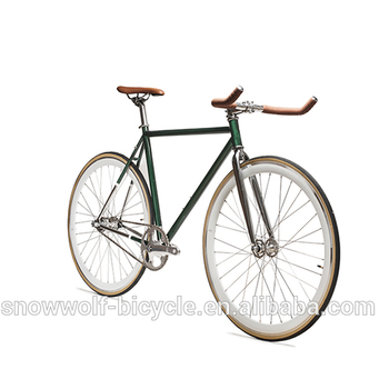 Steel Single Speed Chrome Fixie Bike Mixed Color Fixed Gear Bicycle ...