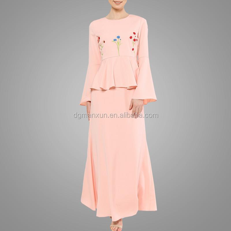 Latest Baju Kurung Designs Elegant Embroidery Muslim Women Dress Modest Malaysia Baju Suit High Grade Kebaya Online Buy Latest Designs Baju
