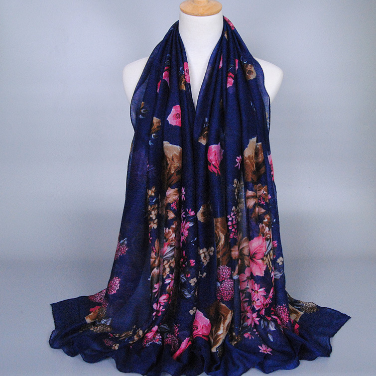 Fashion Custom design floral Pakistani Scarf Woven Scarf