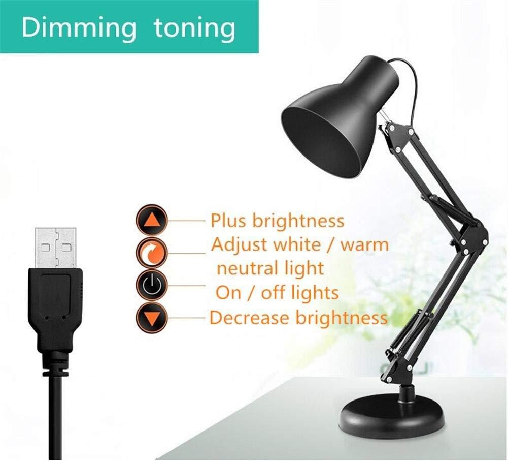 Desk Lamps Clip Desk Lamp Flexible Long Swing Arm Led Desk Lamp 6W Eye-Care Led Table Lamp Multi-Joint Led Reading Light, 3